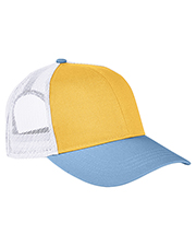 Authentic Pigment AP1919 Tri-Color Trucker Cap at GotApparel