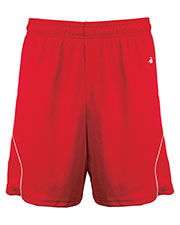 Badger B2101  Bd Grl Short Red/Wh L at GotApparel