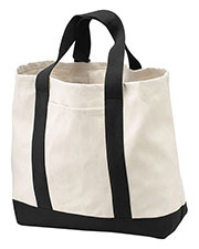 Port & Company B400 Unisex 2-Tone Shopping Tote at GotApparel
