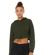 Bella + Canvas B6512 Fast Fashion Women Cinched Cropped Hooded T-Shirt at GotApparel