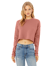 Bella + Canvas B7503 Ladies 7 oz Cropped Fleece Crew at GotApparel