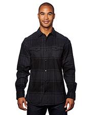 Burnside B8219 Men Snap-Front Flannel Shirt at GotApparel