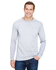 Unisex Union-Made Long-Sleeve Pocket Crew T-Shirt at GotApparel