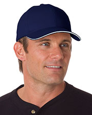 Bayside 3621 Unisex Brushed Twill Structured Sandwich Cap at GotApparel