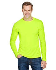 Bayside BA5360 Men 4.5 oz., 100% Polyester Performance Long-Sleeve T-Shirt at GotApparel