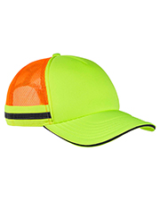 Big Accessories BA661 Safety Trucker Cap at GotApparel