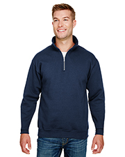 Bayside BA920 Men 9.5 oz., 80/20 Quarter-Zip Pullover Sweatshirt at GotApparel