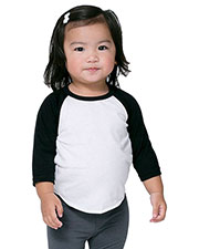 Custom Embroidered American Apparel BB053W Infants Poly-Cotton 3/4-Sleeve T-Shirt at GotApparel