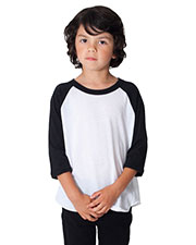 Custom Embroidered American Apparel BB153W Toddler Poly-Cotton 3/4-Sleeve T-Shirt at GotApparel