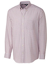 Cutter & Buck BCW00093 Men Big&Tall Long Sleeve Orcas Wrinkle Free Plaid Shirt at GotApparel