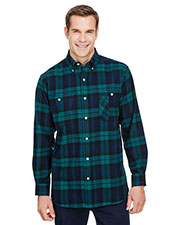 Backpacker BP7001T Men Tall Yarn-Dyed Flannel Shirt at GotApparel