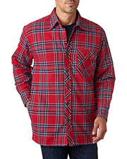 Backpacker BP7002T Men Tall Flannel Shirt Jacket with Quilt Lining at GotApparel