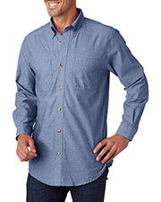 Backpacker BP7004T Men Tall Yarn-Dyed Chambray Woven at GotApparel