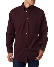 Backpacker BP7010T Men Tall Nailhead Long-Sleeve Woven Shirt at GotApparel