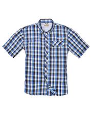 Backpacker BP7015T Men Tall Sport Utility Short-Sleeve Plaid Shirt at GotApparel