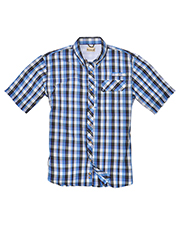 Backpacker BP7015 Men Sport Utility Short-Sleeve Plaid Shirt at GotApparel