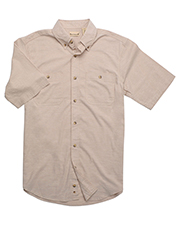 Backpacker BP7019 Men Slub Chambray Short-Sleeve Shirt at GotApparel
