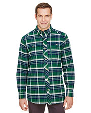 Backpacker BP7091T Men Tall Stretch Flannel Shirt at GotApparel