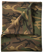 Port & Company BP78C Unisex Camo Sweatshirt Blanket at GotApparel