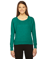 American Apparel BR394W Women Ladies' Triblend Lightweight Raglan Pullover at GotApparel
