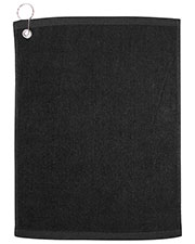 UltraClub C1518G Men H Large Velour Golf Towel with Grommet at GotApparel