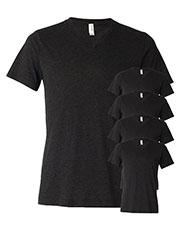 Bella + Canvas 3415C Unisex Tri-Blend Short-Sleeve V-Neck Tee 5-Pack at GotApparel