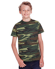 Code V C52207 Youth Camo T-Shirt at GotApparel
