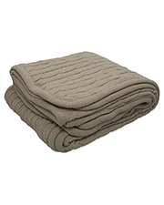 Pro Towels CABLE CABLE Knit Lambswool Blanket at GotApparel