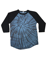 Tie-Dye CD2700 Men Raglan Long Sleeve T-Shirt at GotApparel
