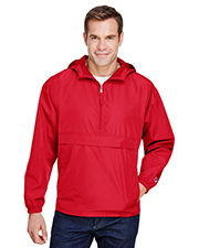 Custom Embroidered Champion CO200 Adult Packable Anorak 1/4 Zip Jacket at GotApparel