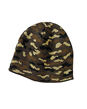 Port & Company CP91C Men Camo Beanie Cap at GotApparel