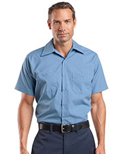 Red Kap® CS20LONG Men's Long Size, Short-Sleeve Striped Industrial Work Shirt at GotApparel