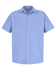 Red Kap CS26 Men Short Sleeve Pocketless Gripper Shirt at GotApparel