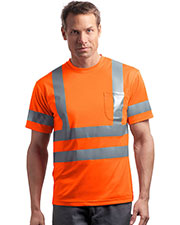 CornerStone® CS408 Men's ANSI 107 Class 3 Short-Sleeve Snag-Resistant Reflective T-Shirt at GotApparel