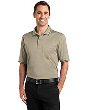 CornerStone CS415 Men's Select Snag-Proof Tipped Pocket Polo at GotApparel