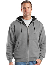 CornerStone CS620 Men's Heavyweight Full-Zip Hooded Sweatshirt with Thermal Lining at GotApparel