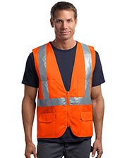CornerStone® CSV405 Men's ANSI 107 Class 2 Mesh Back Safety Vest at GotApparel