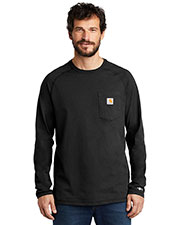 Custom Embroidered Carhartt CT100393 Men 5.75 oz Force Cotton Delmont Long Sleeve T-Shirt at GotApparel