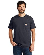 Custom Embroidered Carhartt CT100410 Men 5.75 oz Force Cotton Delmont Short Sleeve T-Shirt at GotApparel