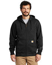 Custom Embroidered Carhartt CT100614 Men 13 oz Rain Defender Paxton Heavyweight Hooded Zip-Front Sweatshirt at GotApparel