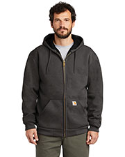 Custom Embroidered Carhartt CT100632 Men 12 oz Rain Defender Rutland Thermal-Lined Hooded Zip-Front Sweatshirt at GotApparel