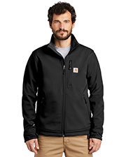 Custom Embroidered Carhartt CT102199 Men 13.9 oz Crowley Soft Shell Jacket at GotApparel