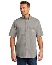 Custom Embroidered Carhartt CT102417 Men 3 oz Force Ridgefield Solid Short Sleeve Shirt at GotApparel