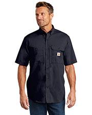 Custom Embroidered Carhartt CT102417 Men 3 oz Force Ridgefield Solid Short Sleeve Shirt at GotApparel