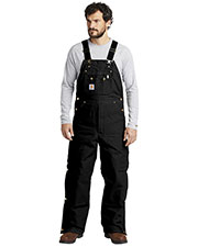 Custom Embroidered Carhartt CTR41 Men 12 oz Duck Quilt-Lined Zip-To-Thigh Bib Overalls at GotApparel