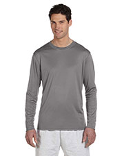 Champion CW26 Men Double Dry 4.1 oz. LongSleeve Interlock T-Shirt at GotApparel