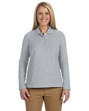 Ladies' Pima Piqué Long-Sleeve Polo at GotApparel