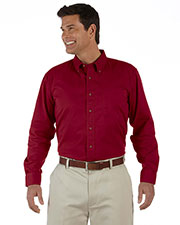 Devon & Jones Classic D500 Men Titan Long Sleeve Twill at GotApparel