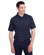 Devon & Jones DG20P Men CrownLux Performance Plaited Polo with Pocket at GotApparel