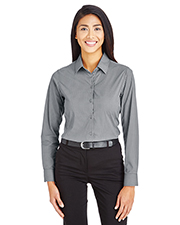 Devon & Jones DG535W CrownLux Performance Ladies 2.9 oz Tonal Mini Check Shirt at GotApparel